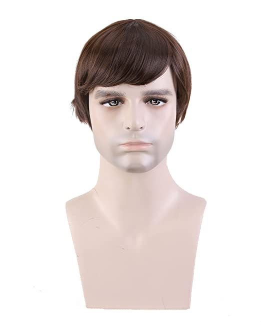 Cool2day® Fashion Men's Short Layered Wig (Model: Jf010471) (Dark B)
