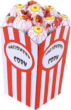 LUOEM Decoración de Palomitas de Maíz Halloween Decoración de Maíz de Espuma Divertida Tratar o Juguetes Truco para Halloween (Ojos Rojos): Amazon.es: Juguetes y juegos
