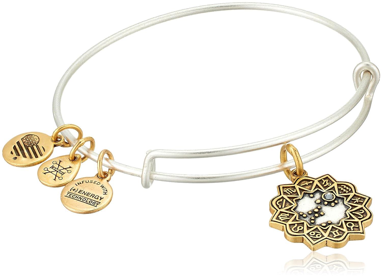 Alex and Ani Women's Sagittarius Two Tone Bangle Bracelet A17EBZD09RS
