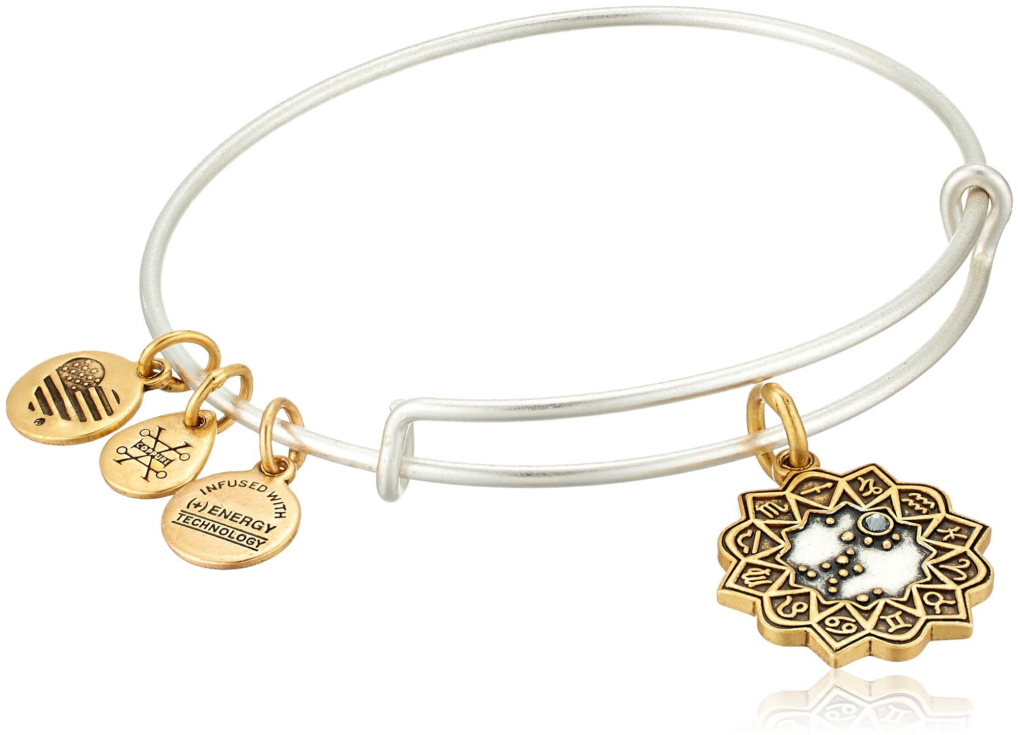 Alex and Ani Women's Sagittarius Two Tone Bangle Bracelet
