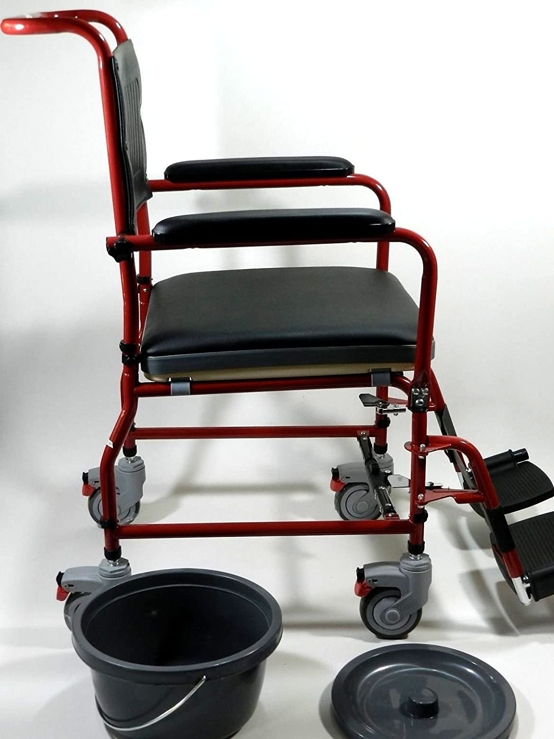Amazon.com: MedMobile 3-in-1 Commode Wheelchair Bedside Toilet ...