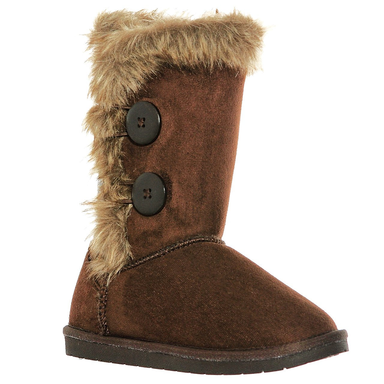 shoewhatever Fur Lined Mid-Calf Snow Boots (8, brownel)