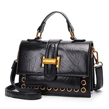 7734c49bb RMXMY Señoras Bolsos de Moda Hombro Retro Messenger Bag Cera Aceite  Estereotipos de la Piel pequeña fragante Solapa Cubierta Simple Personalidad  Creativa ...