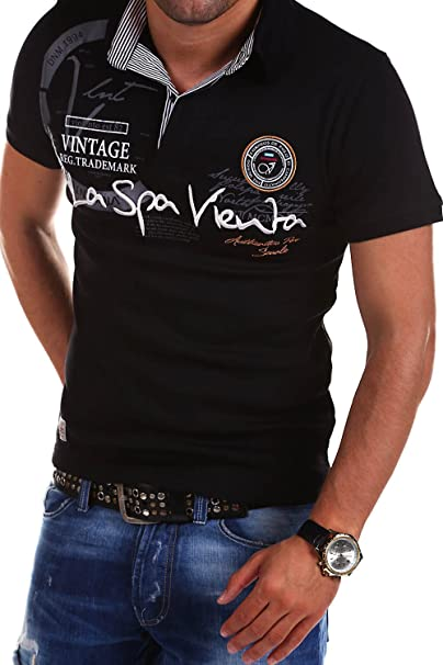 Behype Mens Polo T-Shirt Casual Tops with Collar Challenge R-2728