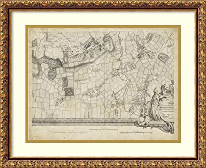 Amazon.com: Framed Art Print \'Map of London Grid XIV\': Posters & Prints