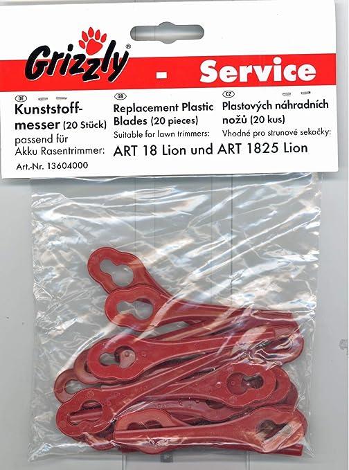 Grizzly tipo 18 Lion 20 Cuchilla de repuesto batería de plástico ...
