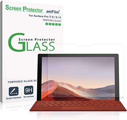 """2 Pack Microsoft Surface Pro 6 5 4 12.3/"""" 9H Real Tempered Glass Screen Protector"""