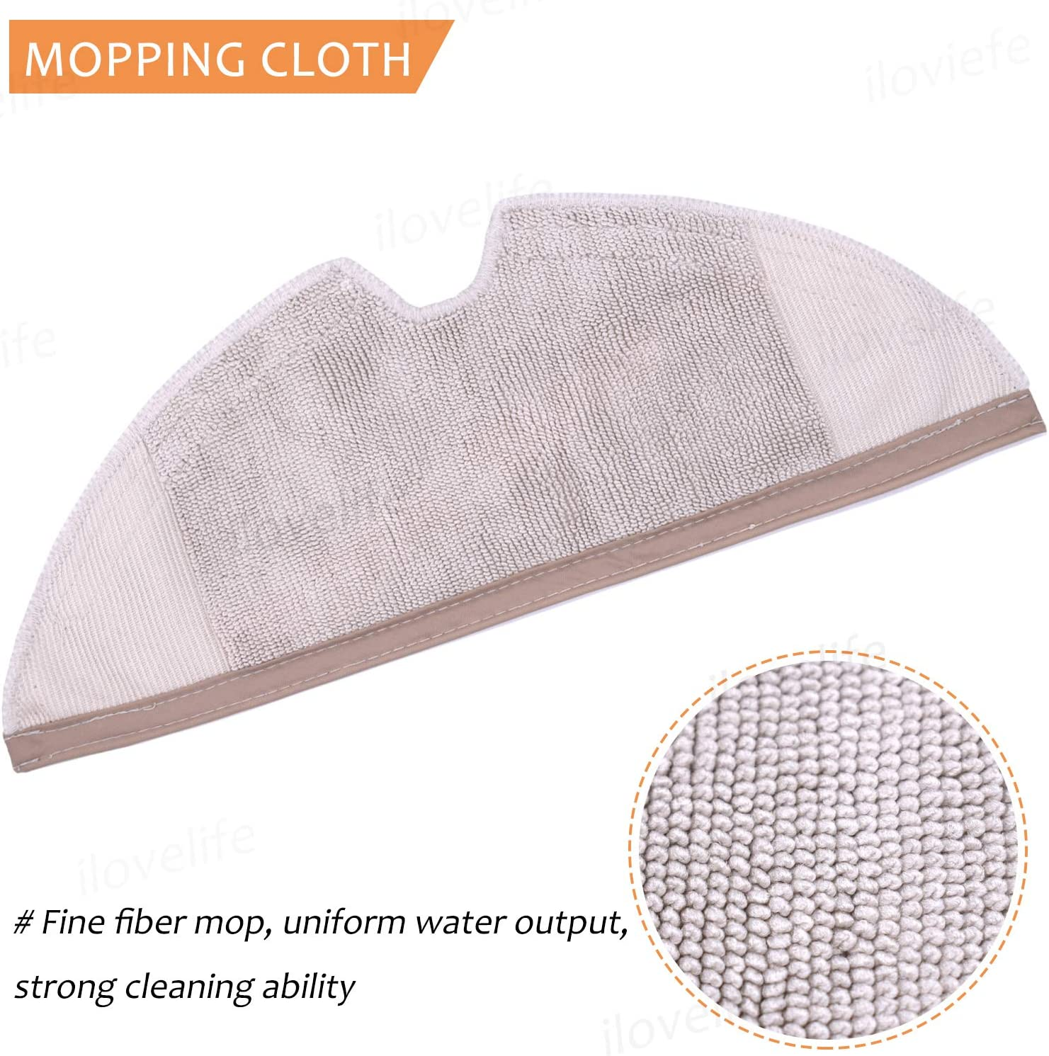 Nrpfell 10Pcs Suitable for Robot S50 S51 Vacuum Cleaner Spare Parts Kit Mop Cloths Generation 2 Dry Wet Mopping Cleaning