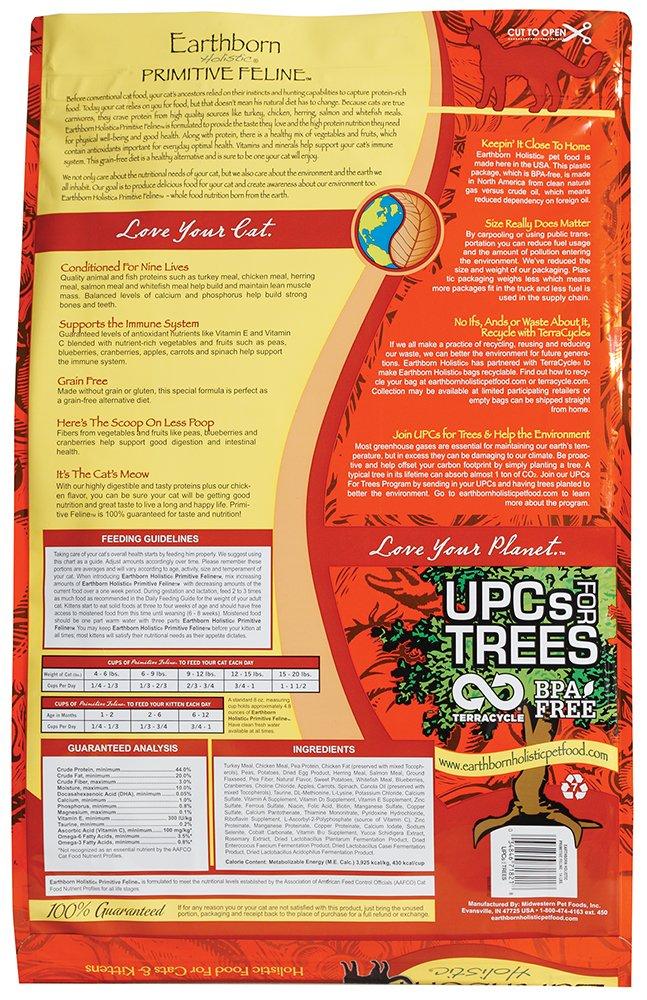 Earthborn Grain Free Primitive Feline 14 lbs by Earthborn Holistic (Image #1)