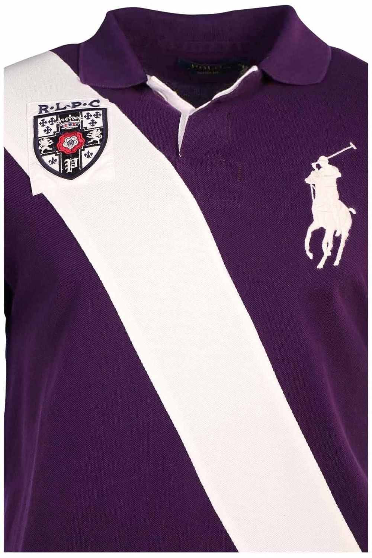 89f0aec2 Polo Ralph Lauren Men's Custom Fit Sash Big Pony Shirt-College Purple-Medium  at Amazon Men's Clothing store: