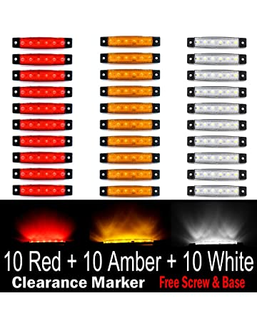 (Pack of 30) LEDVillage 10 pcs Amber + 10 pcs Red + 10 pcs