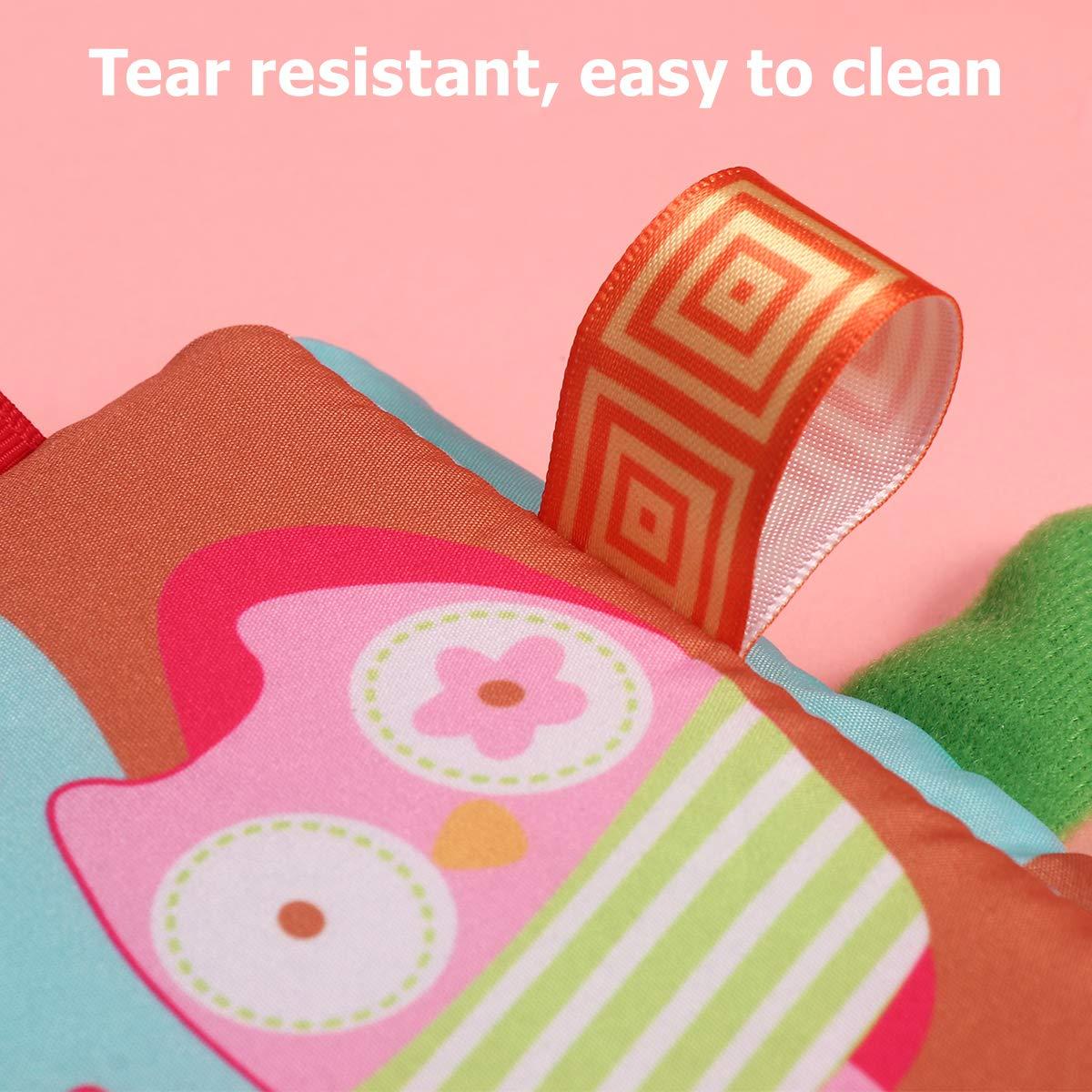 TOYANDONA Soft Book for Baby First Cloth Book Libros educativos tempranos Juguetes para beb/és Ni/ños peque/ños