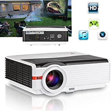 CAIWEI 5000 Lumens Home Entertainment Projector Full HD 1080P ...