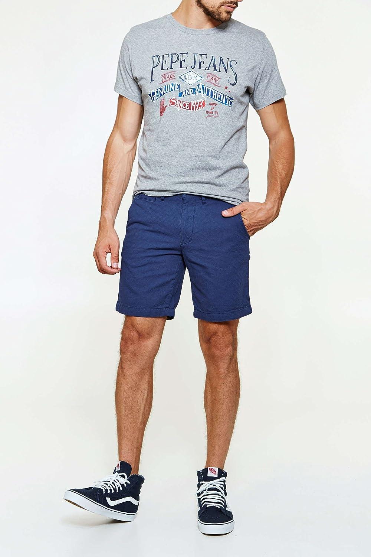 Pepe Jeans Short En Jean Preston Dark Blue Bleu Gris Homme T32  Amazon.fr   Vêtements et accessoires 876155dcf229