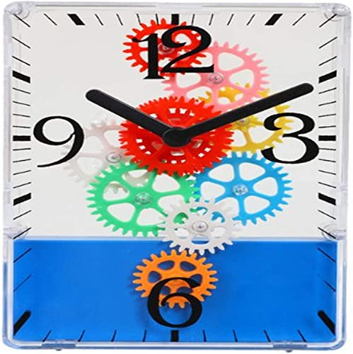 Maple s Colorful Moving Gear Table Clock