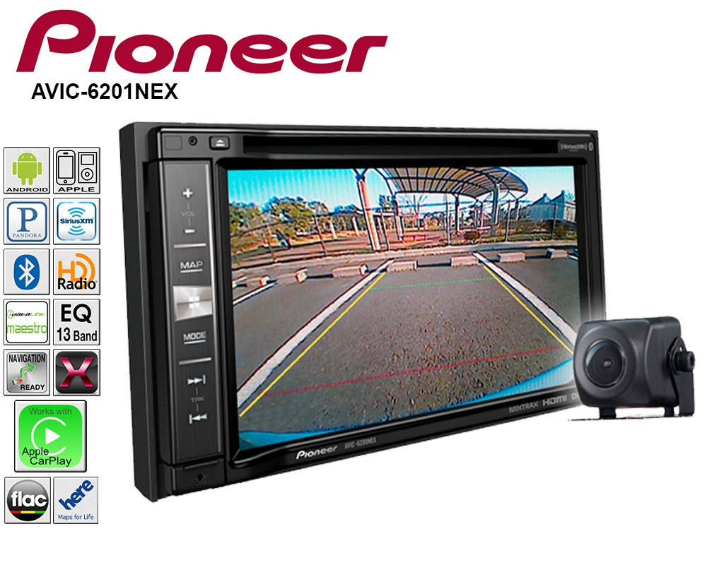 Pioneeer AVIC-6201NEX Double Din Radio Install Kit with GPS Navigation Apple CarPlay Android Auto Fits 1998-2005 Lexus GS Series by Pioneeer Volunteer Audio (Image #4)