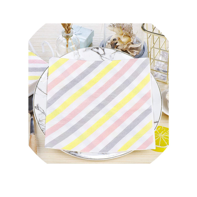 Amazon.com Fresh Diagonal Stripes Paper Napkins Cafe\u0026Party