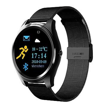 Cimic Bluetooth Smartwatch/Pantalla HD/Reloj Antitranspirante/Análisis del Podómetro/Monitoreo del Sueño para Teléfonos Inteligentes Android Y iPhone para ...