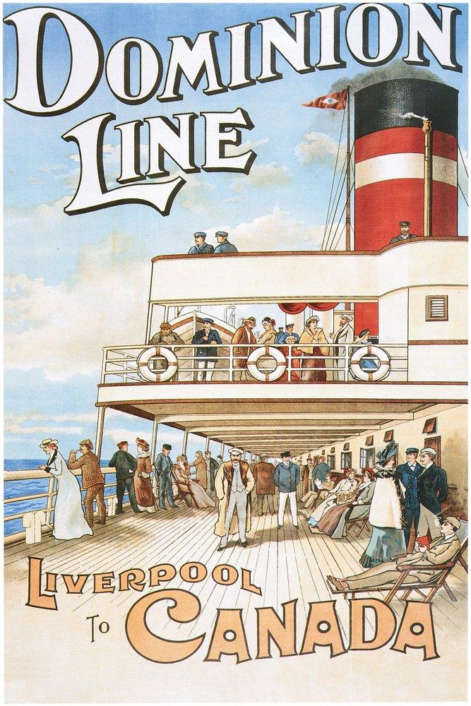 Dominionライン – リバプールにカナダ – ビンテージポスター 36 x 54 Giclee Print LANT-50025-36x54 36 x 54 Giclee Print  B017EA3JK6