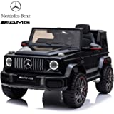 Dorsa Licensed Mercedes Benz Amg G63 Ride On Car For Kids, Black, 0002-BLACK