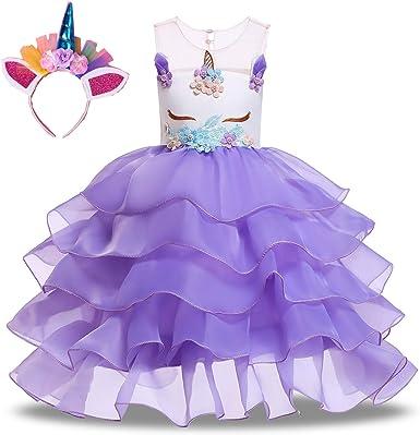 Lolo home clothing Vestido de Unicornio para niños Vestido de ...