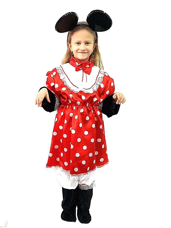 pequeños monelli Traje Minnie niña 8 9 años Vestido Minnie Mouse ...