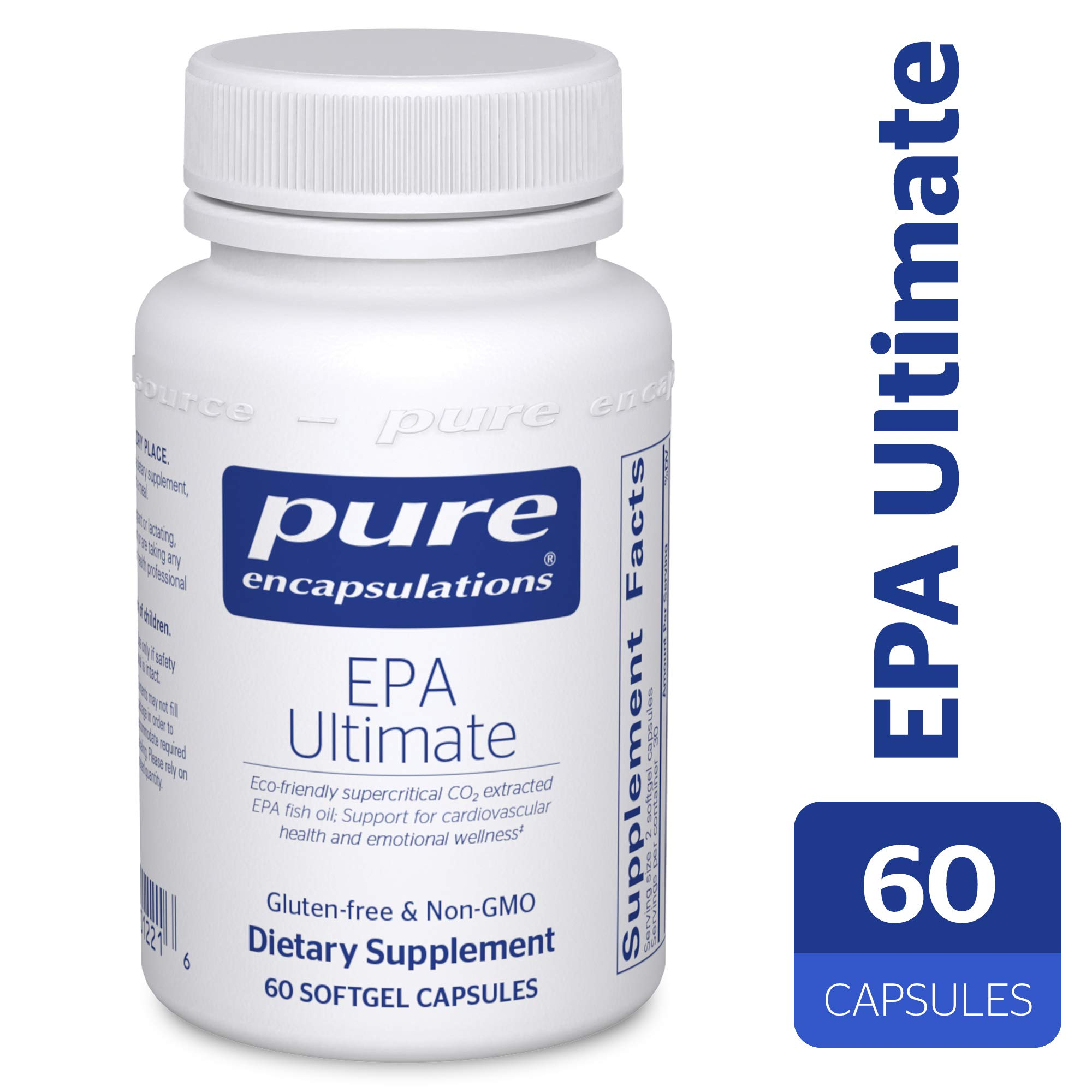 Pure Encapsulations - EPA Ultimate - Eco-Friendly Supercritical CO2 Extracted EPA Fish Oil Concentrate - 60 Softgel Capsules