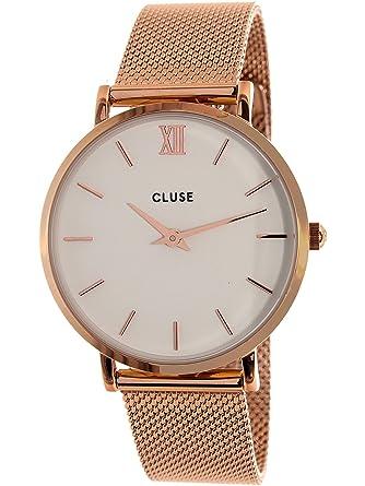 Cluse Reloj Analógico Automático para Mujer con Correa de Acero Inoxidable - CL30013: Cluse: Amazon.es: Relojes