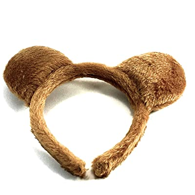 molly & Rose Teddy Bear Ears Brown Furry Aliceband Fancy Dress Hair Accessories World Book Day: Clothing