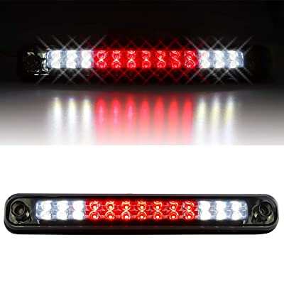 Sanzitop LED 3rd Brake Light High Mount Brake Light Fit for 1988-1998 Chevy Silverado/Chevy GMC C/K C10 1500-3500/GMC Sierra 16521970 16522433 (Chrome Housing Smoke Lens): Automotive