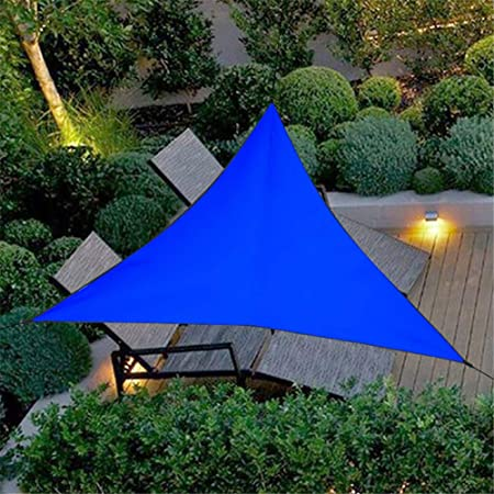 HotYou Impermeable A Prueba de Sol Triángulo Toldo Sombra Vela Aire Libre Sombrilla Sombrilla Jardín Patio Piscina Camping Picnic,Azul,3 * 3 * 3 M: Amazon.es: Hogar