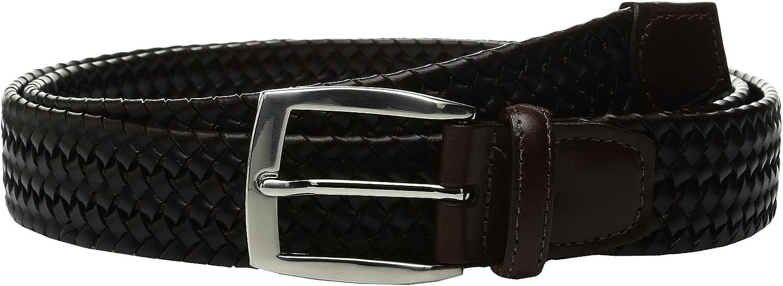 Torino 35mm Ital Woven Stretch Lea Belt Brown