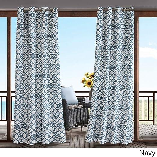 1Pieza 95 al aire libre Gazebo de calado de azul marino cortina, color azul oscuro fuera
