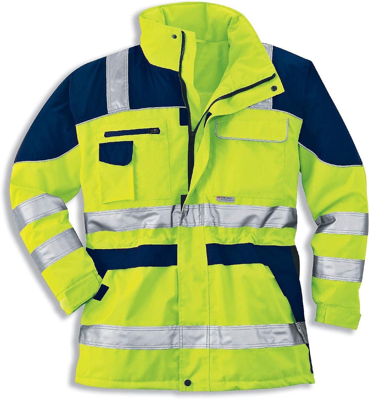 Sehr Gute Thermoisolierung Uvex Construction Protection Flash Herren-Arbeitsjacke Warngelbe M/änner-Sicherheitsjacke