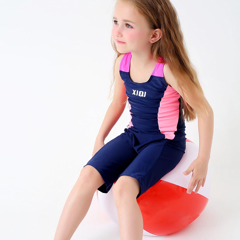 SWIWA Kids Girls Competitive Legsuit One Piece Swimsuit for 2-15 Years Children Open Back Swimwear