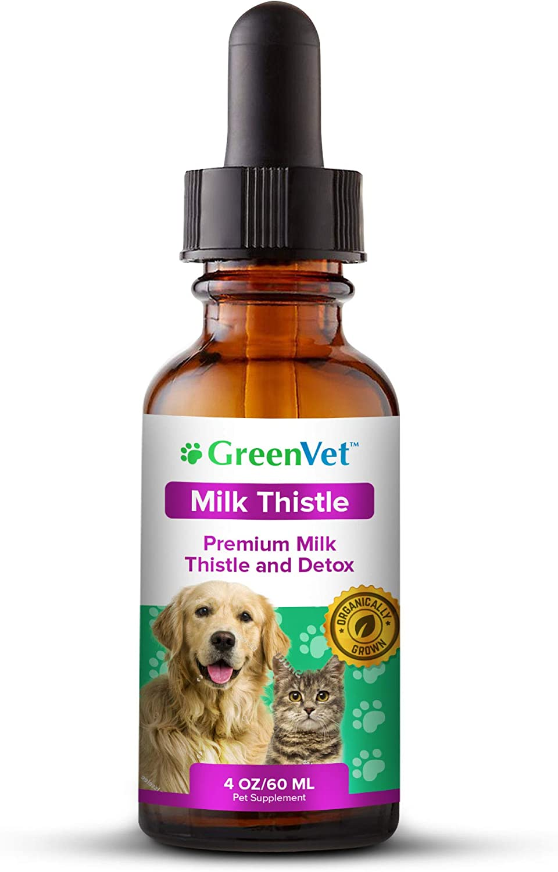 Amazon Com Green Vet Organic Milk Thistle Liver Kidney