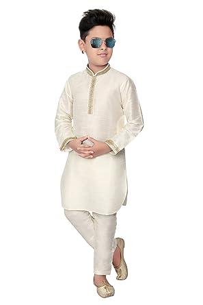 224ca1b00 BEDI'S Boys Kurta Pyjama Indian Wedding Party WEAR Kurta Pajama Pakistani  Salwar Kameez- White