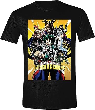 My Hero Academia Camiseta de Hombre Personaje Póster Algodón Negro - XXL: Amazon.es: Ropa y accesorios