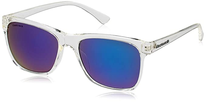 6006d0fd24 Image Unavailable. Image not available for. Colour  Fastrack Springers Wayfarer  Unisex Sunglasses (Transparent) ...