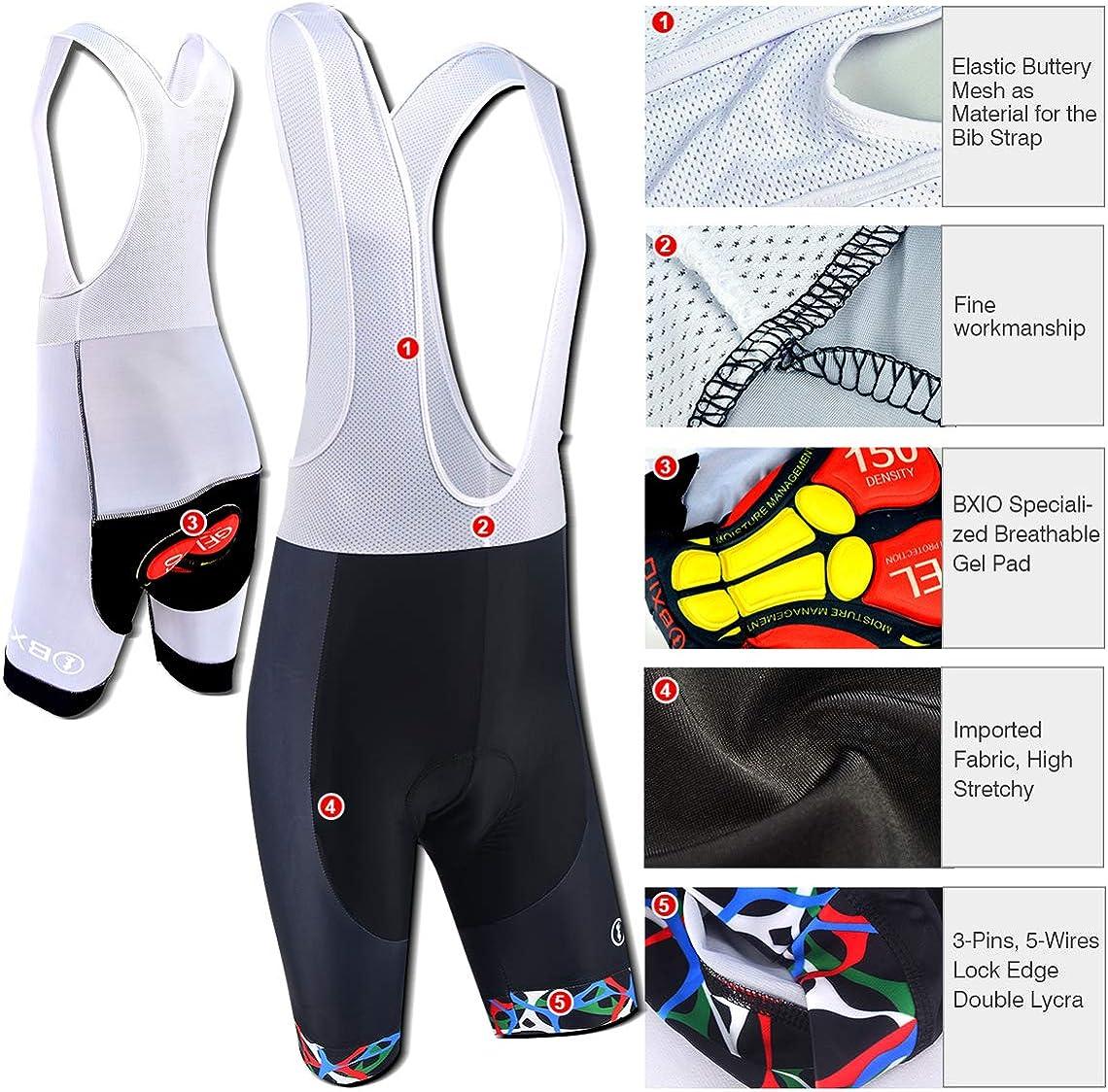 BXIO Mens Cycling Sets Breathable Red Fashion Cycling Jerseys 5D Gel Pad Bib shorts Quich-dry MTB Cycle Wear Short Sleeves 213