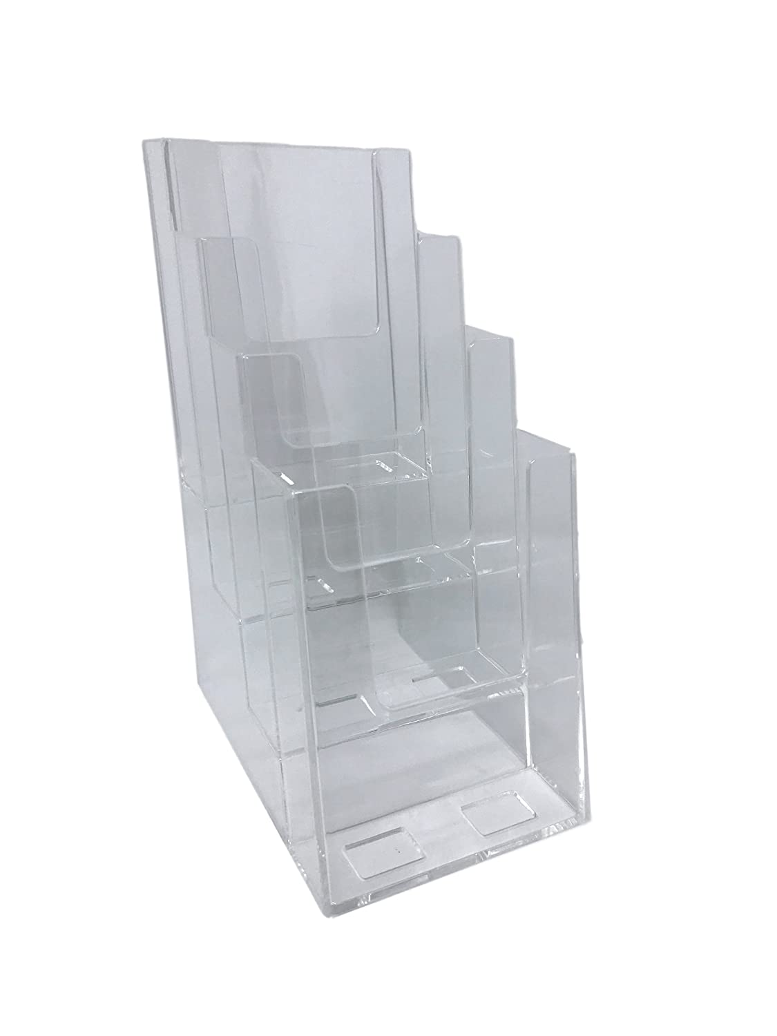 Dazzling Displays 4-Tier 4 x 9 Tri-Fold Brochure Holder Inc. BHD-4T4X9-1