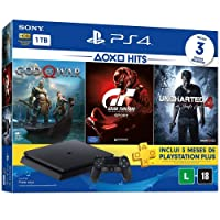 Console PlayStation 4 - Slim 1TB - Hits Bundle