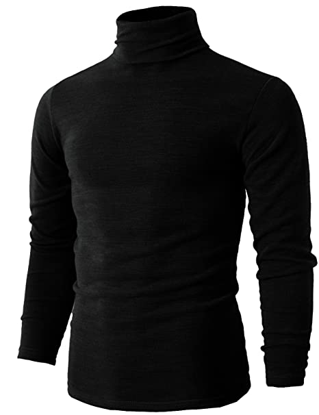 H2H Mens Casual Basic Slim Fit Pullover Thermal Sweaters BLACK US XS/Asia M  (