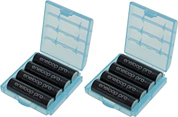 Eneloop XX - Pilas AA (2550 mAh, tecnología eneloop, mínimo 2450 mAh, incluye 2 estuches para pilas): Amazon.es: Electrónica