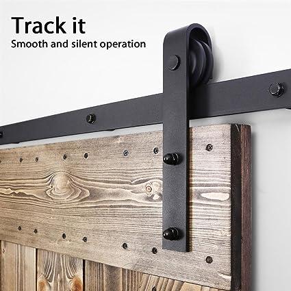 Attrayant Sliding Bran Door Hardware, Steel Barn Sliding Door Track Hardware Kit,  Includes Rail,