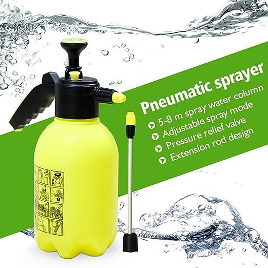 2L Pulverizador de presión Versión actualizada Pathonor Manguera con grifo pulverizador de agua o pesticidas de jardin portatil para Planta Jardín amarillo: Amazon.es: Jardín