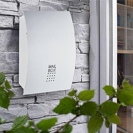 Obeeonr Buzón/Mailbox/Post Buzón Exterior de Diseño de Acero ...