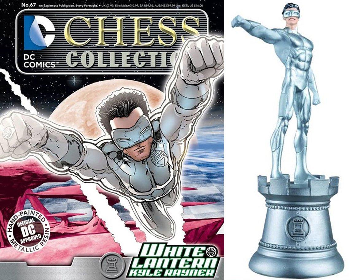 Figuren des Schachspiels Harz DC Comics Chess Collection Nº 67 Weiß Lantern