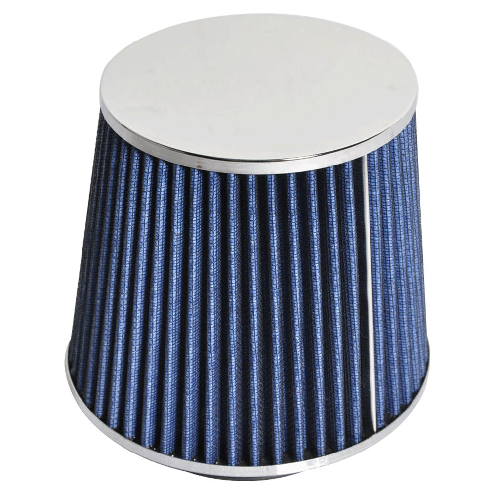 """3.5 Inches 3.5/"""" 89 mm Cold Air Intake Cone Truck Replacement Filter BLUE Ford"""