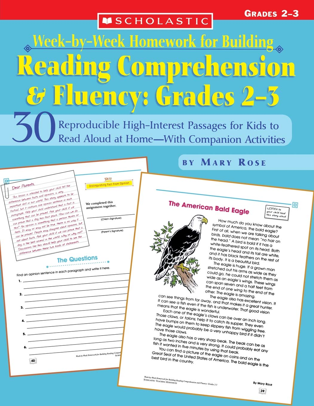 Week-by-Week Homework for Building Reading Comprehension and